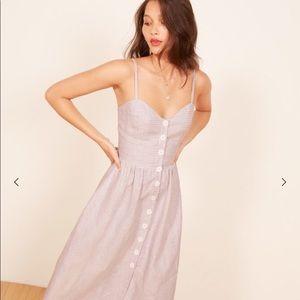 Reformation Thelma Dress Jane Check NWT $218